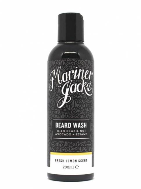 "Champú para Barba ""Fresh Lemon"" de Mariner Jack (200ml)"