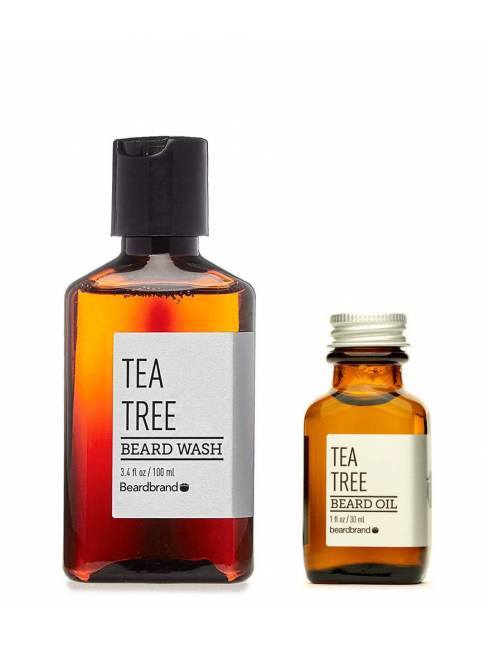 "Pack de Aceite y Champú para Barba ""Beardbrand Tea Tree"""