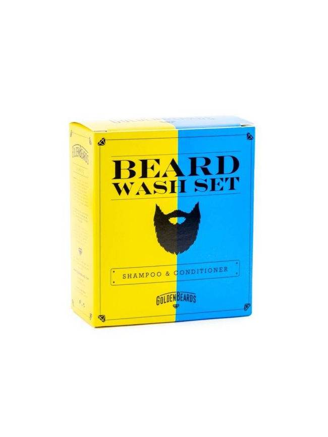 "Pack de Champú y Acondicionador para Barba de ""Golden Beards"""