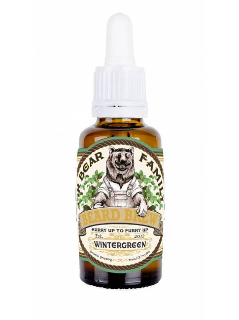 "Aceite para Barba ""Mr Bear Family Beard Brew Wintergreen"" (30ml)"