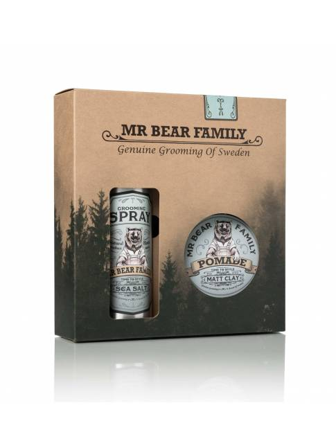 "Pack Spray y Pomada para Cabello ""Springwood"" de Mr. Bear Family"