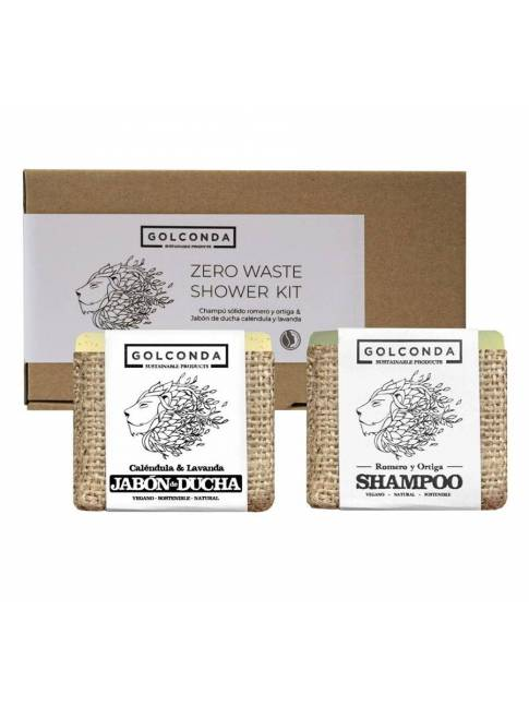 "Pack de champú y jabón de ducha ""Zero Waste Shower Kit"" de Golconda"