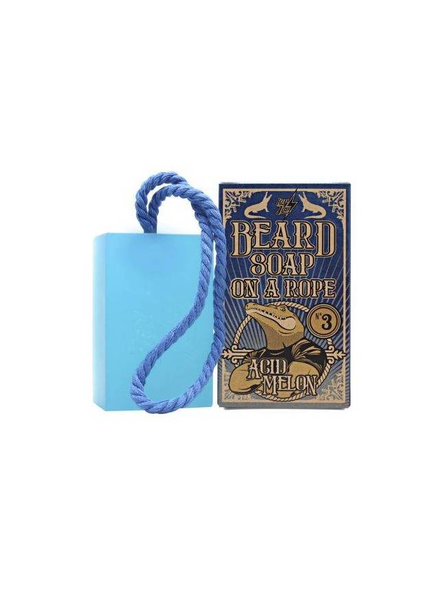 "Jabón para Barba ""Beard soap on a rope Nº 3 Acid Melon"" de Hey Joe! (150ml)"