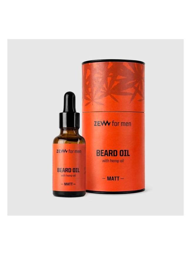 "Aceite para Barba Mate de Cáñamo, Sándalo y Musgo de ""Zew"" (30ml)"