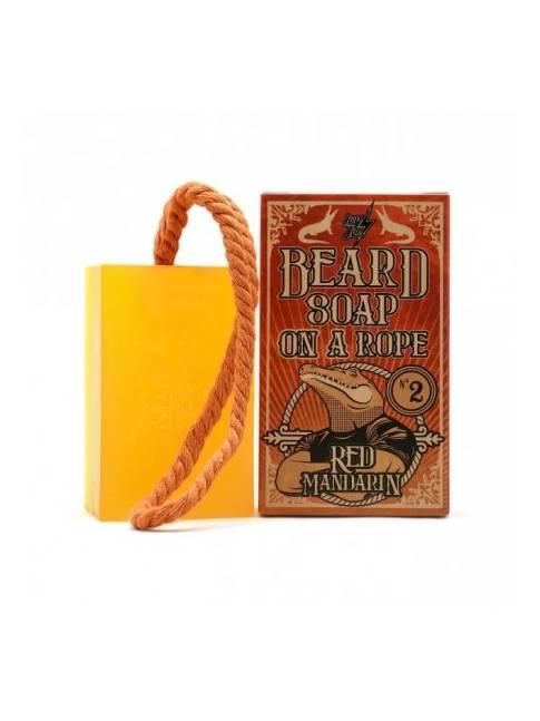 """Jabón para Barba """"Beard soap on a rope Nº 2 Red Mandarin"""" de Hey Joe! (150ml)"""