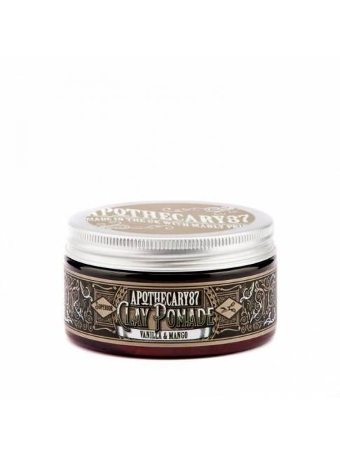 """Pomada para el cabello """"Apothecary87 Vanilla & Mango Clay Pomade"""" (100ml)"""
